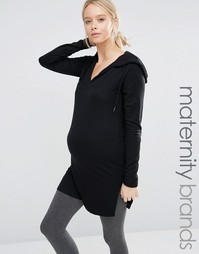 Трикотажное худи в стиле casual Mamalicious - Черный Mama.Licious