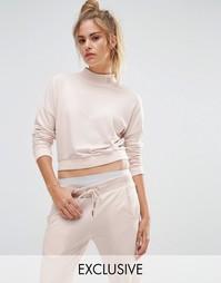 Розовый укороченный свитшот с высокой горловиной Puma эксклюзивно для
