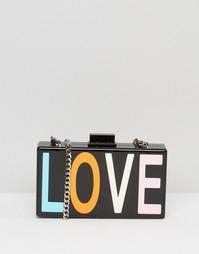 Клатч с надписью LOVE Claudia Canova - Черный