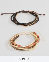 Набор браслетов из шнурка и бусин Classics 77 - Мульти