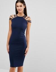 Платье миди с лямками City Goddess - Темно-синий