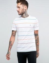 Удлиненная футболка в стиле колор блок Original Penguin - Белый