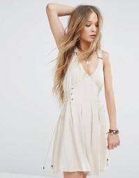 Платье с люверсами Moon River - Естественный