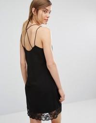 Платье-майка с кружевной тесьмой Vero Moda - Черный