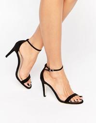 Черные босоножки на каблуке Call It Spring Liraniel - Черный нубуковый