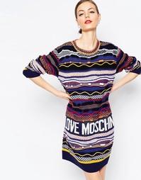 Платье-джемпер с абстрактным узором Love Moschino - Мульти