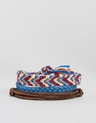 3 плетеных браслета Hollister - Мульти