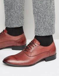Кожаные туфли-оксфорды Base London Holmes - Красный