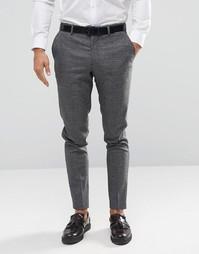 Строгие брюки в клетку Jack & Jones Premium - Серый