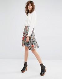 Короткая юбка с цветочным принтом Essentiel Antwerp Madilyn - Мульти