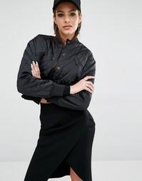 Стеганая куртка-пилот Kendall + Kylie - Черный