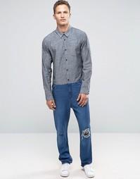 Синий комбинезон из драпированной ткани ASOS - Синий