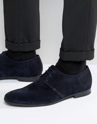 Замшевые туфли дерби BOSS By Hugo Boss Paris - Темно-синий