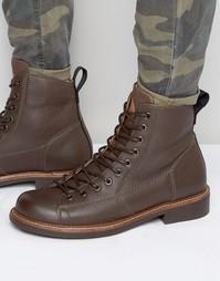 Кожаные ботинки на шнуровке G-Star Roofer - Коричневый