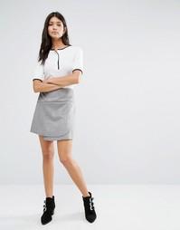 Мини-юбка с запахом Glamorous - Серый
