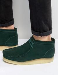 Ботинки Clarks Originals Wallabee - Зеленый