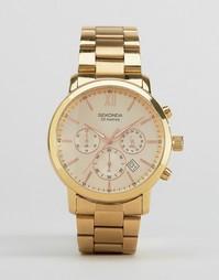 Наручные часы золотистого цвета с хронографом Sekonda эксклюзивно для