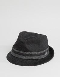 Шляпа с шевронным узором Fred Perry - Серый