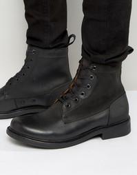 Кожаные ботинки на шнуровке G-Star Myrow - Черный
