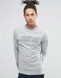 Серый свитшот с круглым вырезом Nike SB Everett Reveal 800139-063