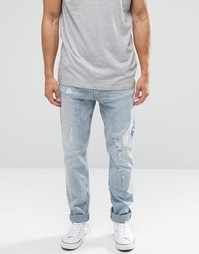 Суженные джинсы с заниженным шаговым швом Nudie Brute Knut