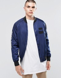 Куртка-пилот Heros Heroine MA1 - Темно-синий