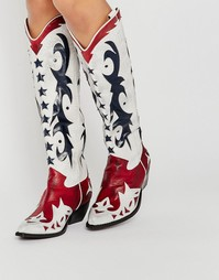 Сапоги в стиле вестерн Jeffrey Campbell Starwood - Multi calf leather