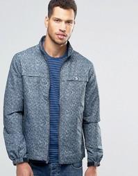 Льняная куртка цвета индиго Original Penguin - Синий
