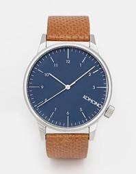 Часы с коричневым кожаным ремешком Komono Winston - Коричневый