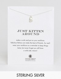 Серебряное ожерелье с подвеской‑котом Dogeared Just Kitten Around
