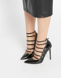 Остроносые туфли на высоком каблуке ASOS PERSONALISE - Черный