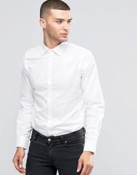 Рубашка зауженного кроя с контрастными пуговицами Sisley - Белый 910