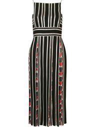 striped midi dress Reinaldo Lourenço
