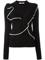 свитер с оборками MSGM