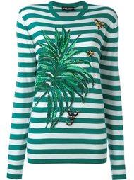 полосатый джемпер с аппликацией Dolce & Gabbana