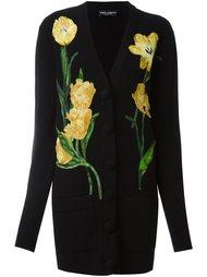 кардиган с аппликацией тюльпанов Dolce & Gabbana