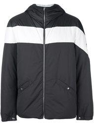 стеганая куртка с контрастной полосой Moncler Gamme Bleu