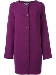 однобортное пальто  Boutique Moschino