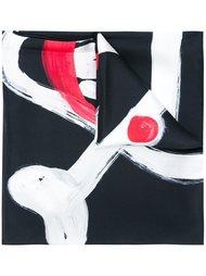 шарф с принтом черепов  Moschino
