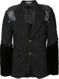 полосатый пиджак с подчеркнутыми плечами Comme Des Garçons Homme Plus