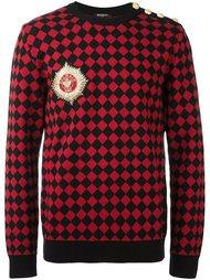 свитер в клетку  Balmain