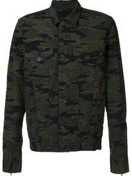 джинсовая куртка с камуфляжным рисунком En Noir