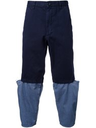 контрастные брюки  Comme Des Garçons Shirt
