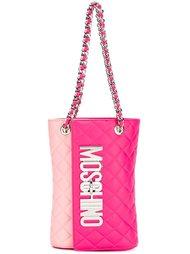 двухцветная стеганая сумка Moschino