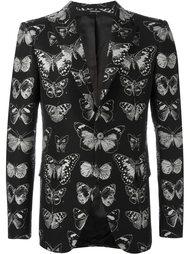 жаккардовый пиджак с принтом мотыльков Alexander McQueen