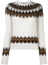 вязаный свитер с узором  Laneus