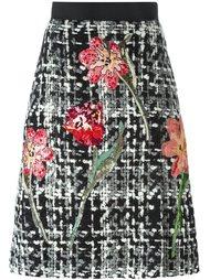 юбка-букле с цветочным мотивом Dolce & Gabbana