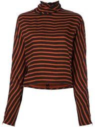 полосатая блузка с высокой горловиной McQ Alexander McQueen