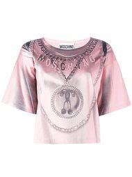 футболка с узором  Moschino