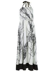 foliage print halterneck dress Isabela Capeto